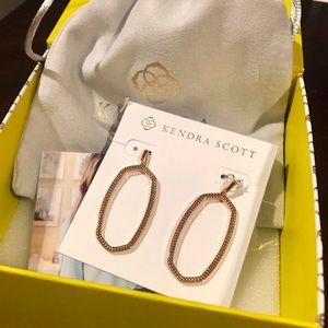 NWT Kendra Scott Elle Open Drop Earrings RG